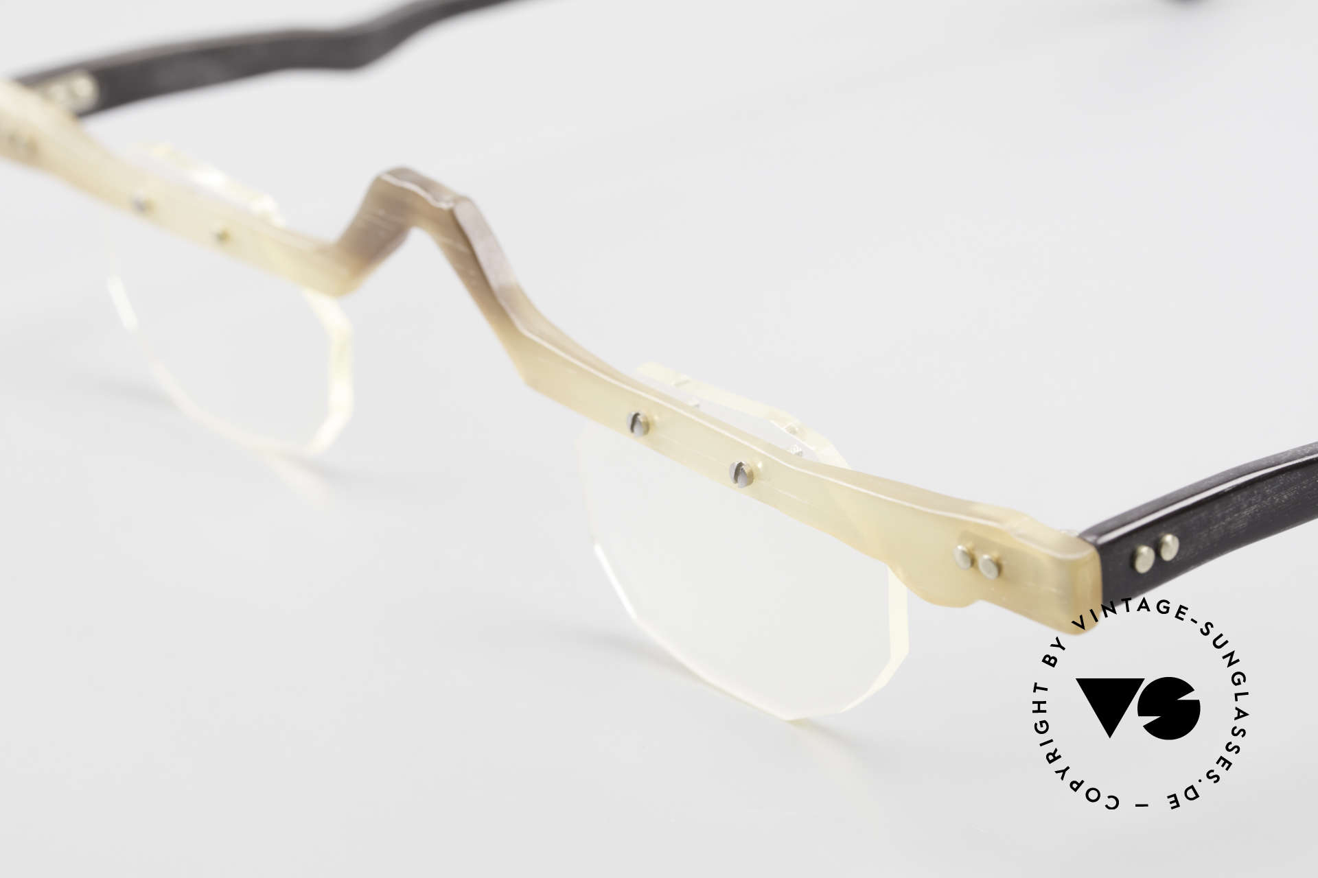 Theo Belgium Eye-Witness ACR Avant-Garde Reading Horn Frame, the fancy 'Eye-Witness' series was launched in May '95, Made for Men and Women