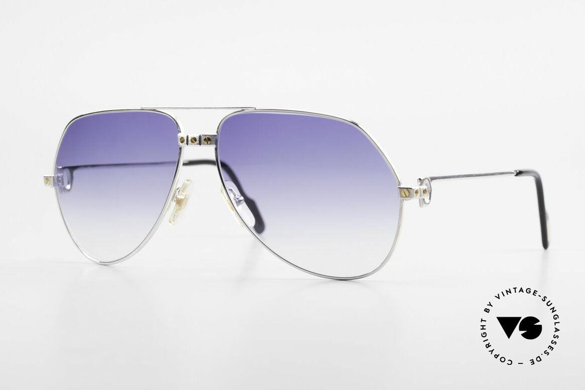 Cartier Vendome Santos - L Customized Silver Edition, unique Cartier Vendome sunglasses, LARGE size 62°14, Made for Men