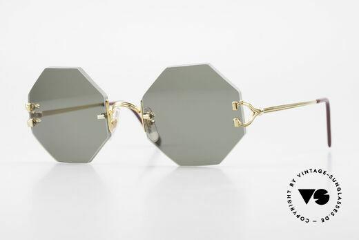 Cartier Rimless Octag Rimless Octagonal Sunglasses Details