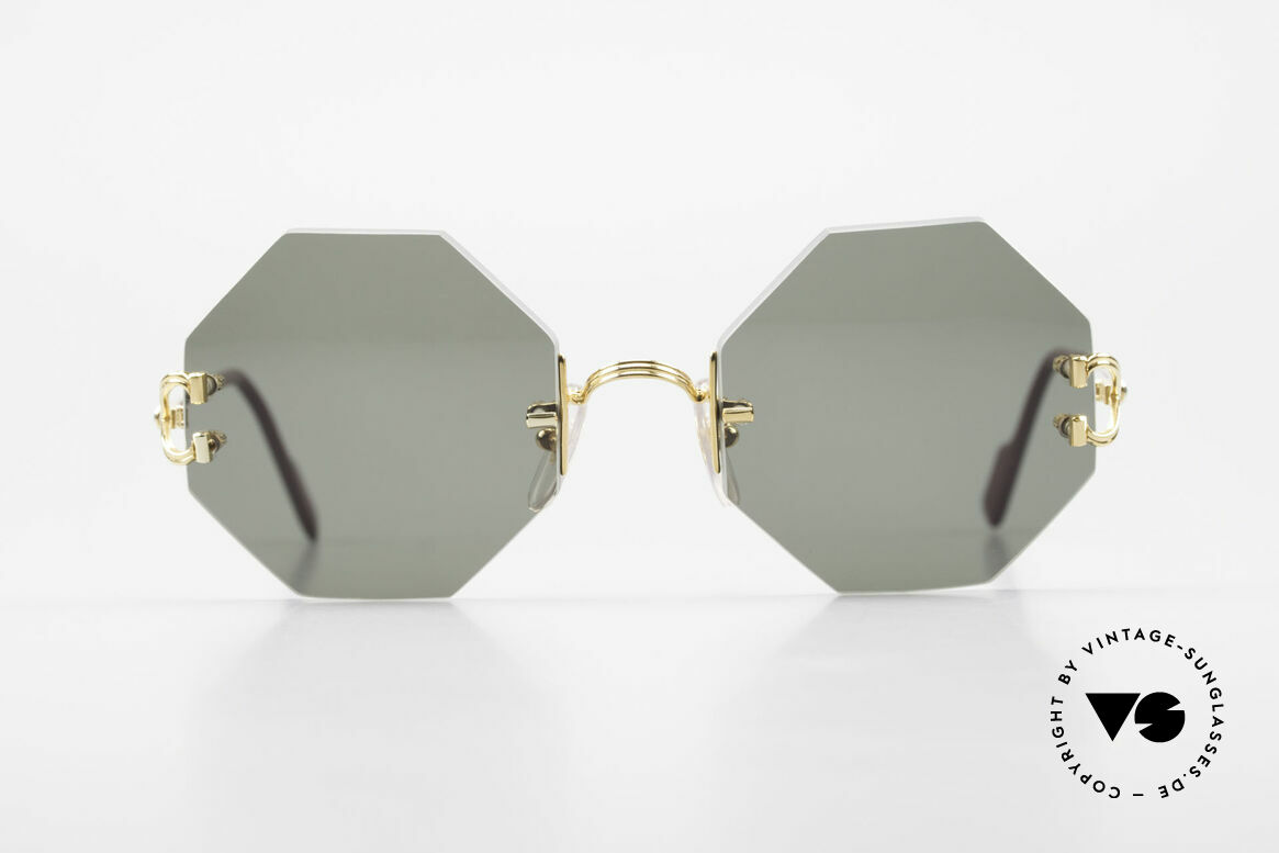 Cartier Rimless Octag Rimless Octagonal Sunglasses, model of the rimless series with new OCTAG lenses, Made for Men and Women