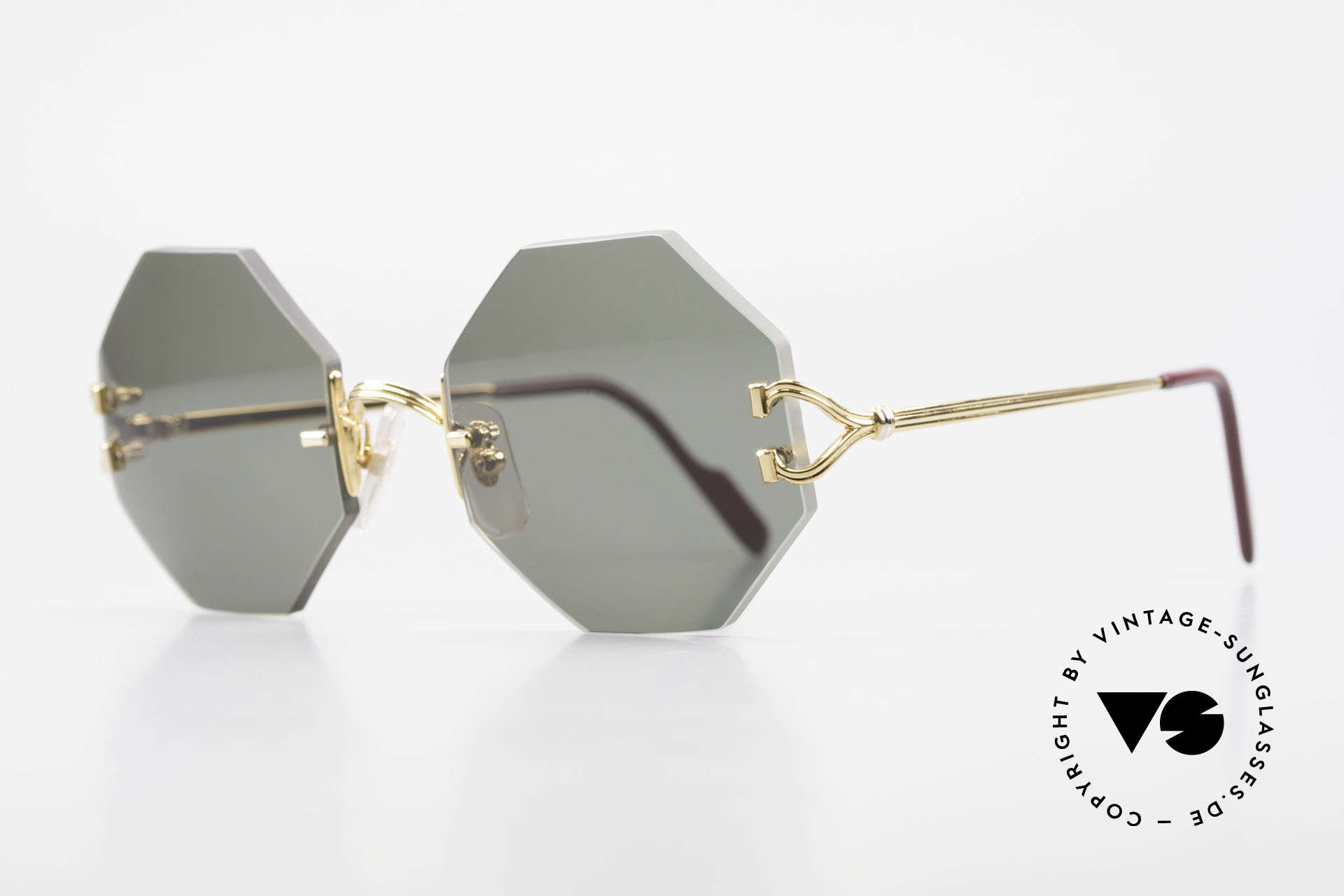 Cartier Rimless Octag Rimless Octagonal Sunglasses, customized by our optician; MEDIUM size (133mm)!, Made for Men and Women