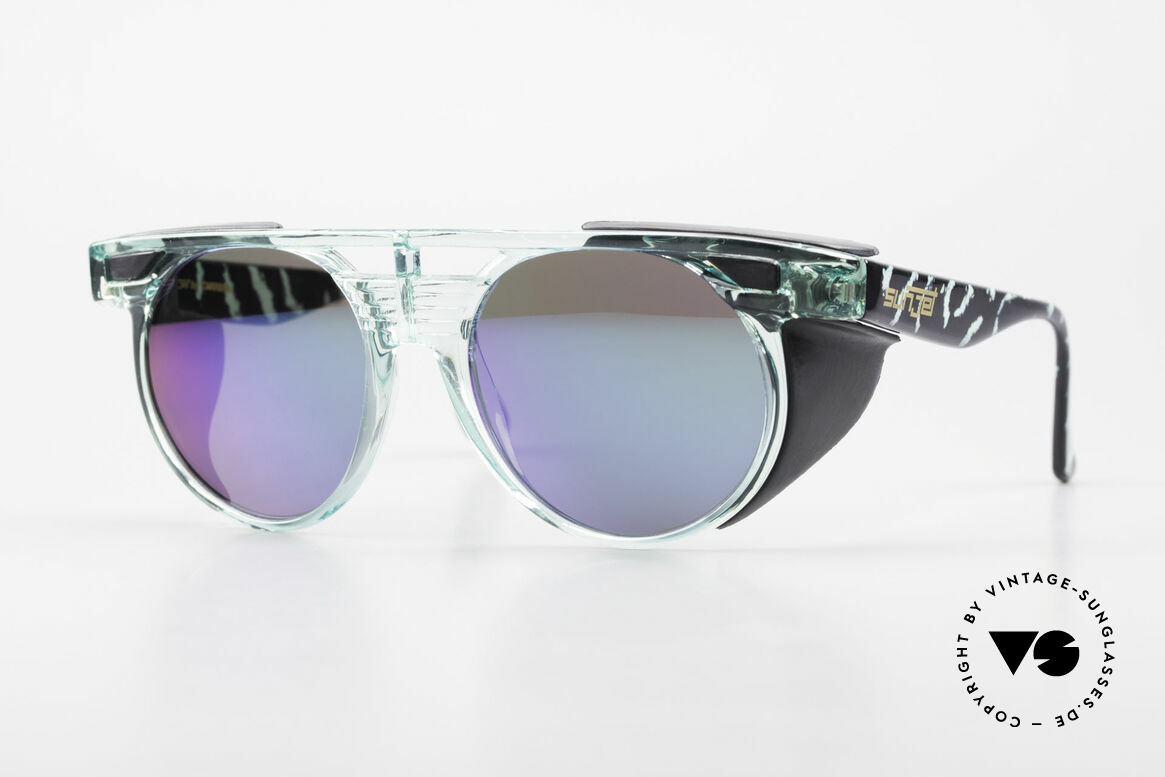 Carrera 5251 Round Sunglasses Steampunk, striking vintage Carrera SUNJET sunglasses of the 90s, Made for Men and Women