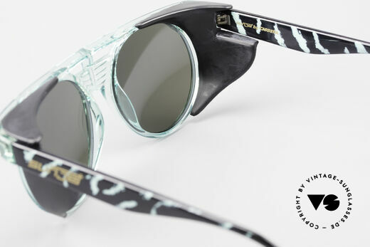 Carrera 5251 Round Sunglasses Steampunk, removable side shields and green-mirrored sun lenses, Made for Men and Women