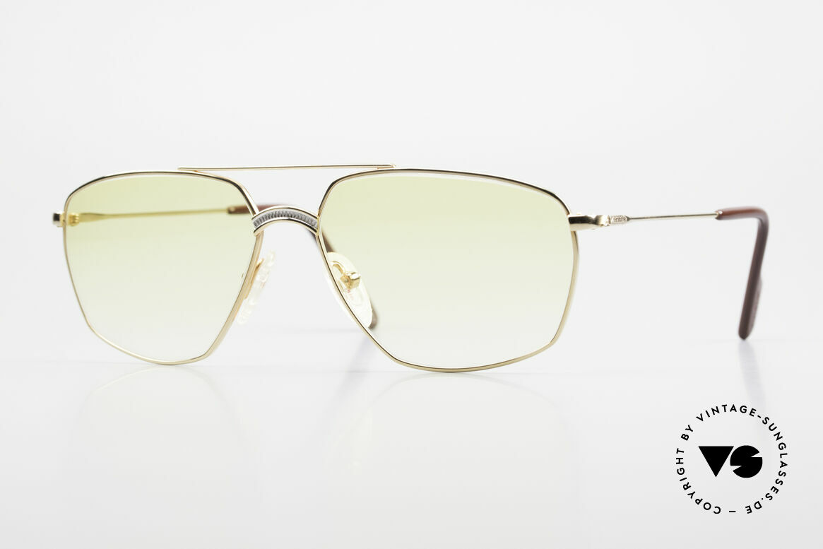 Alpina FM80 Yellow Gradient Sun Lenses, extraordinary vintage ALPINA sunglasses from 1987/88, Made for Men