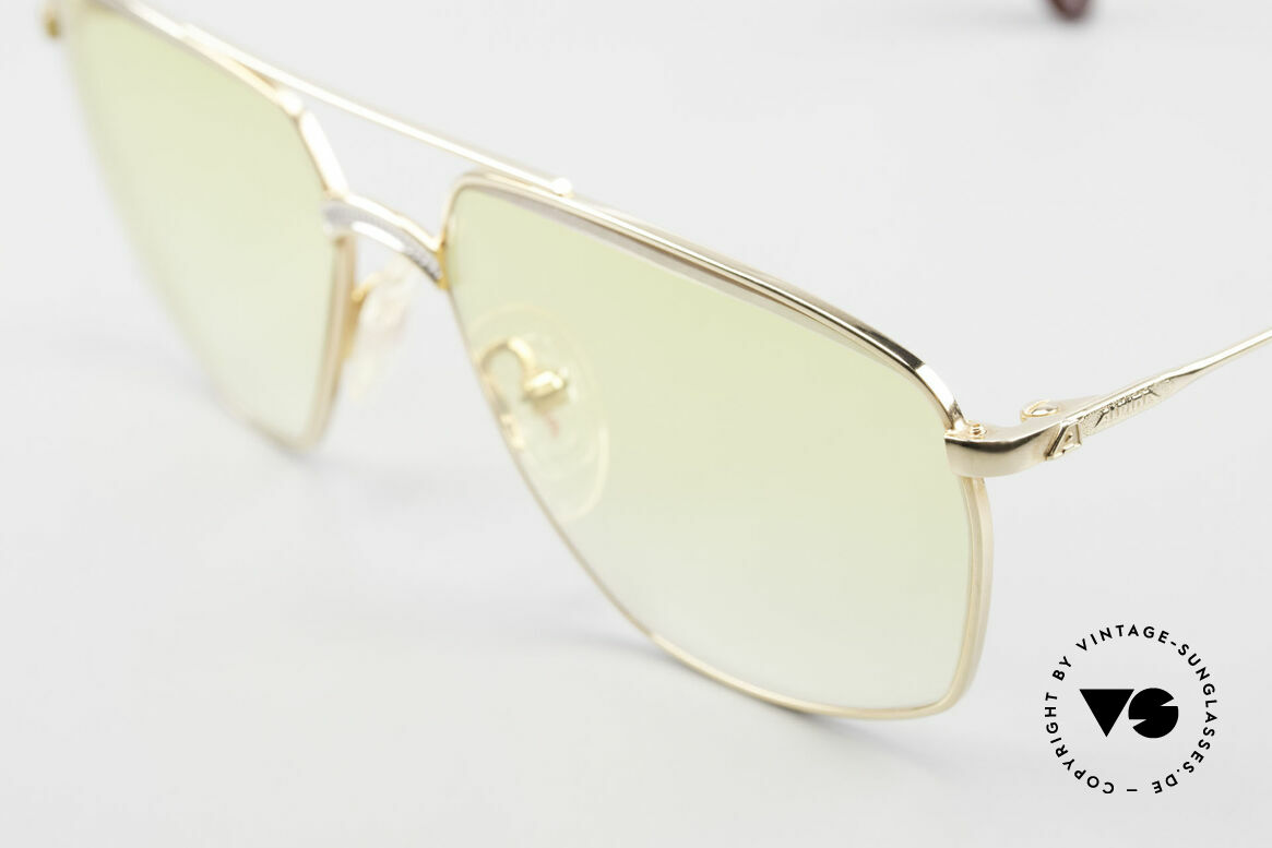 Alpina FM80 Yellow Gradient Sun Lenses, unworn, one of a kind (like all our vintage Alpina specs), Made for Men