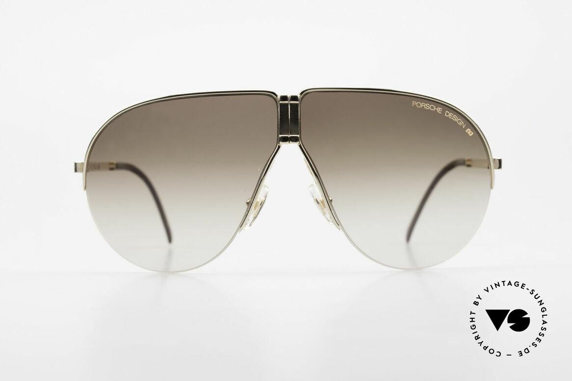 Porsche 5628 Rare 80's Folding Sunglasses, noble designer model, incl. orig. Porsche folding case, Made for Men