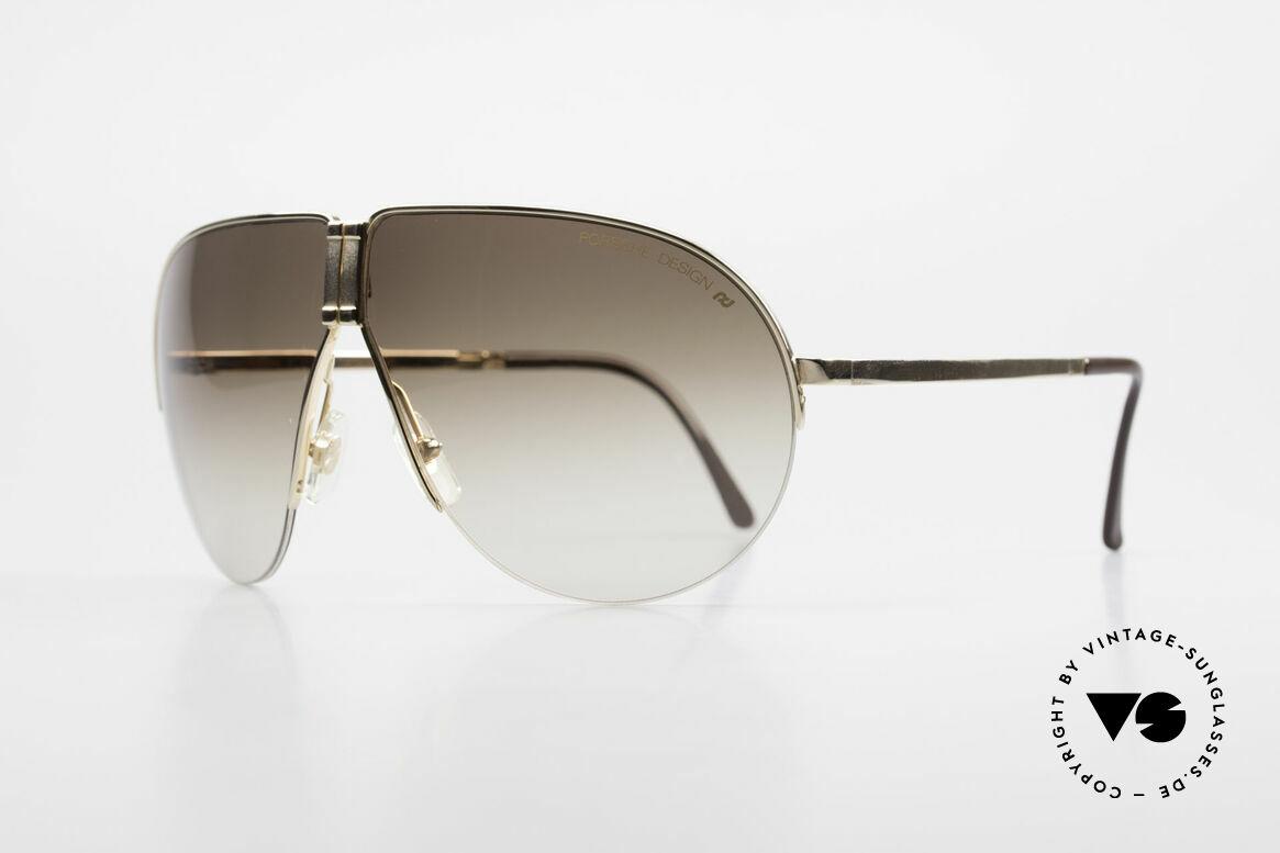 Porsche 5628 Rare 80's Folding Sunglasses, half rimless frame (lightweight) very pleasant to wear, Made for Men