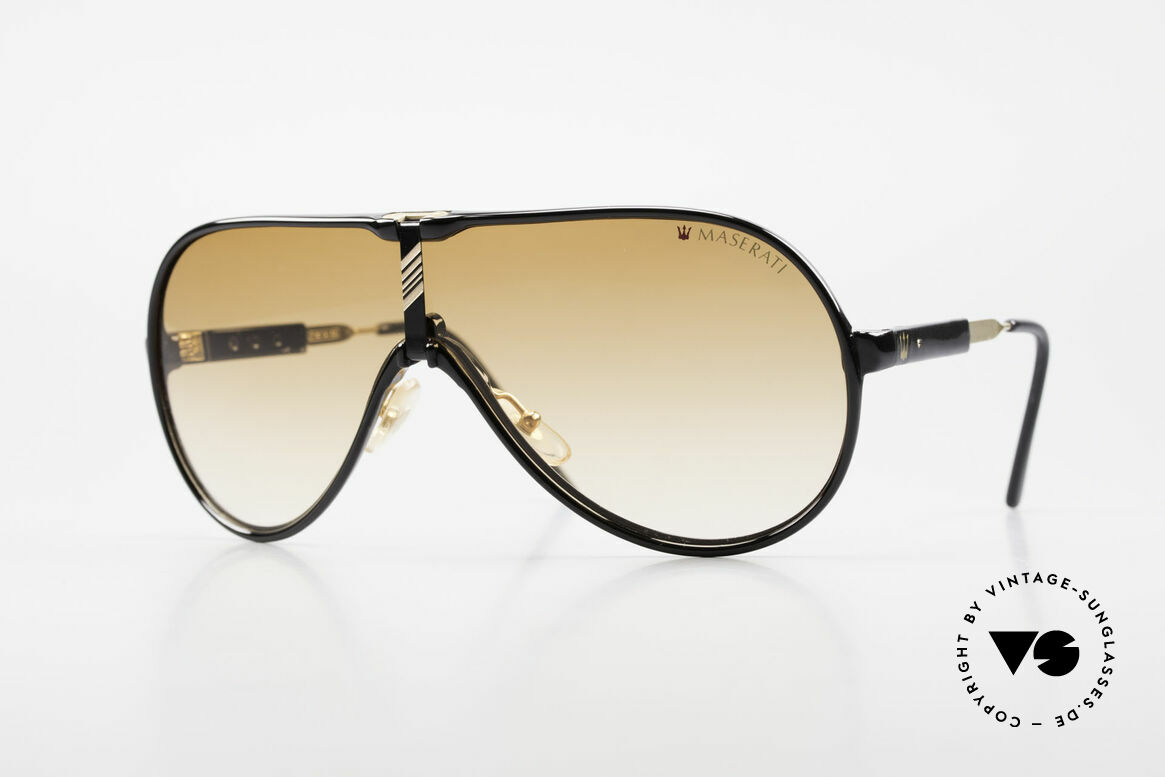 Maserati 6119 3 Lenses Sports Sunglasses, luxury vintage sunglasses by the noble brand Maserati, Made for Men