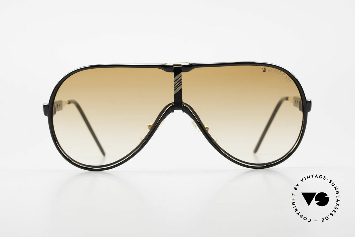Maserati 6119 3 Lenses Sports Sunglasses, absolutely high-end quality (lightweight & comfortable), Made for Men
