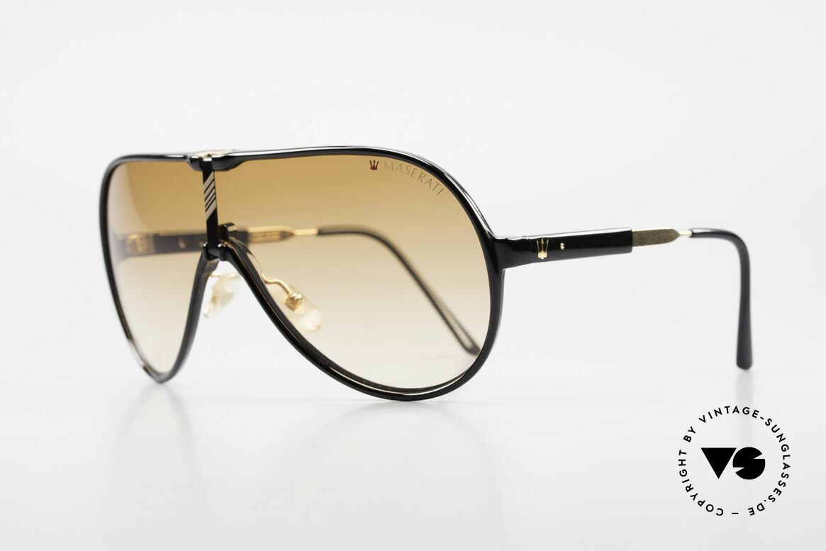 Maserati 6119 3 Lenses Sports Sunglasses, with 3 different interchangeable lenses + sports temples, Made for Men