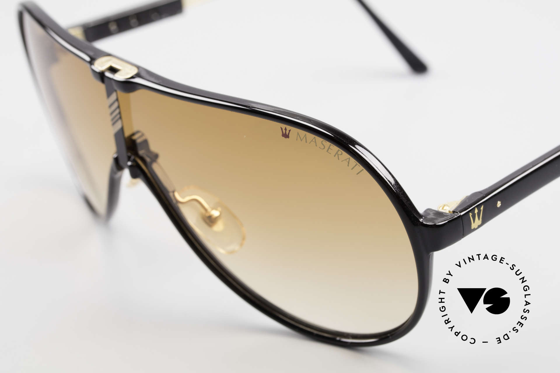 Maserati 6119 3 Lenses Sports Sunglasses, temple length is adjustable (& still with orig. packing), Made for Men