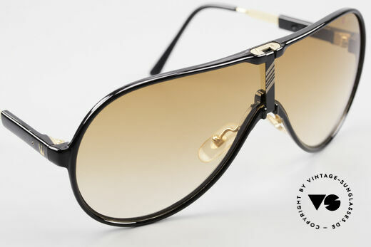 Maserati 6119 3 Lenses Sports Sunglasses, unworn (like all our rare vintage Maserati sunglasses), Made for Men