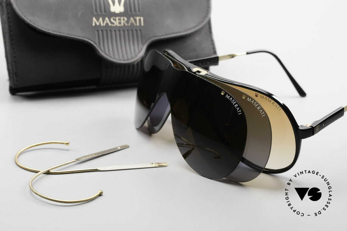 Maserati 6119 3 Lenses Sports Sunglasses, Size: medium, Made for Men