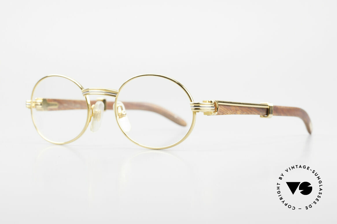 Cartier Giverny Oval Wood Glasses Gold Plated, model of the legendary 'PRECIOUS WOOD' collection, Made for Men and Women