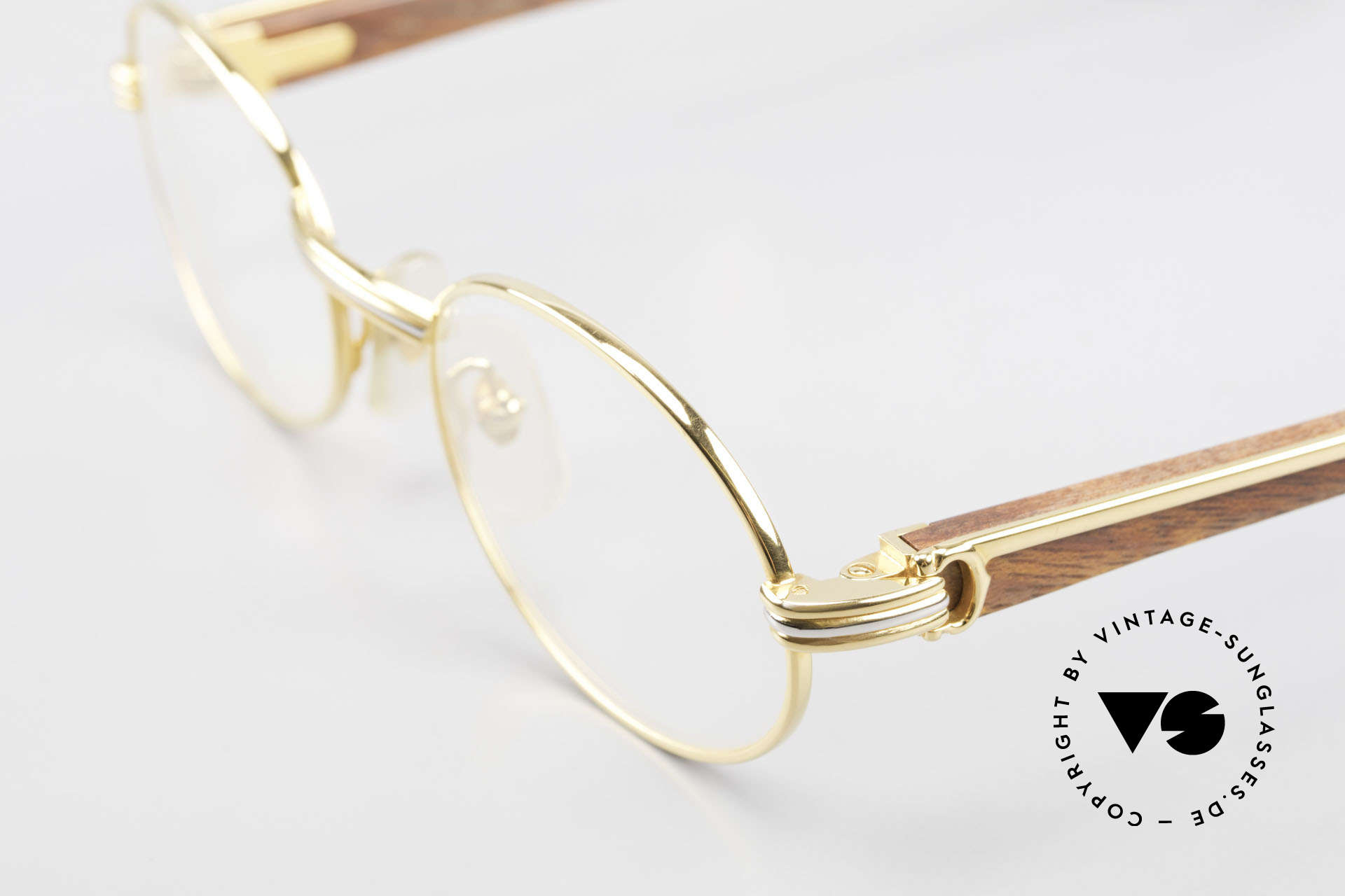 Cartier Giverny Oval Wood Glasses Gold Plated, oval gold-plated frame, pure luxury lifestyle, VERTU, Made for Men and Women