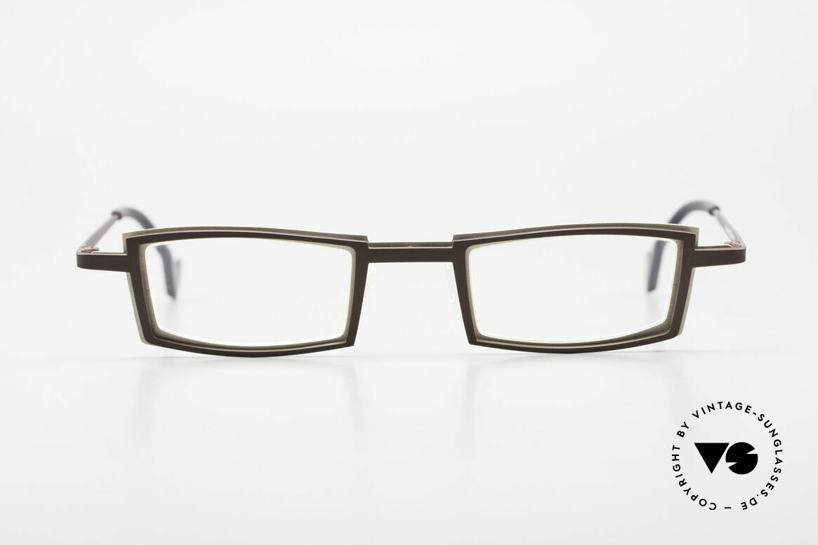 Theo Belgium Kwartet Designer Eyeglasses Vintage, founded in 1989 as 'opposite pole' to the 'mainstream', Made for Men and Women