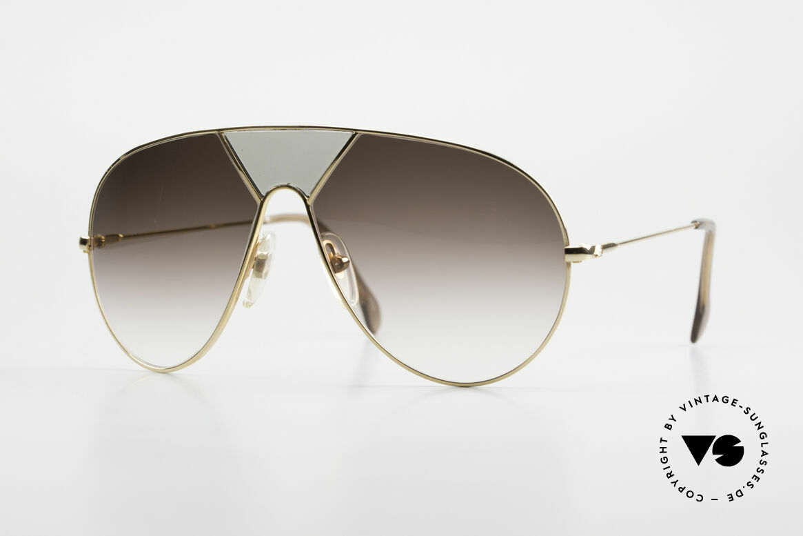 Alpina TR3 Miami Vice Style Sunglasses, legendary Alpina 1980's designer aviator sunglasses, Made for Men