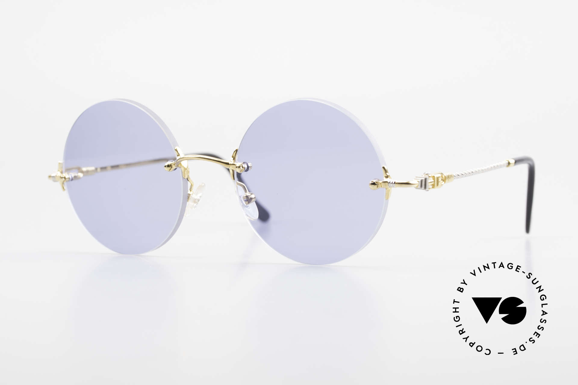 Fred Fidji Rimless Round Luxury Shades, rimless luxury sunglasses by Fred, Paris from the 90's, Made for Men