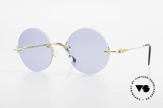 Fred Fidji Rimless Round Luxury Shades Details