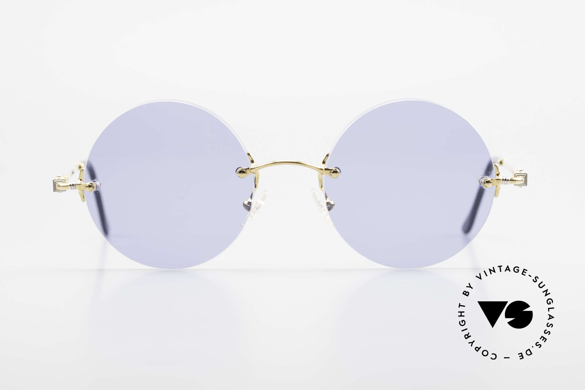 Fred Fidji Rimless Round Luxury Shades, marine design (distinctive Fred) in high-end quality!, Made for Men