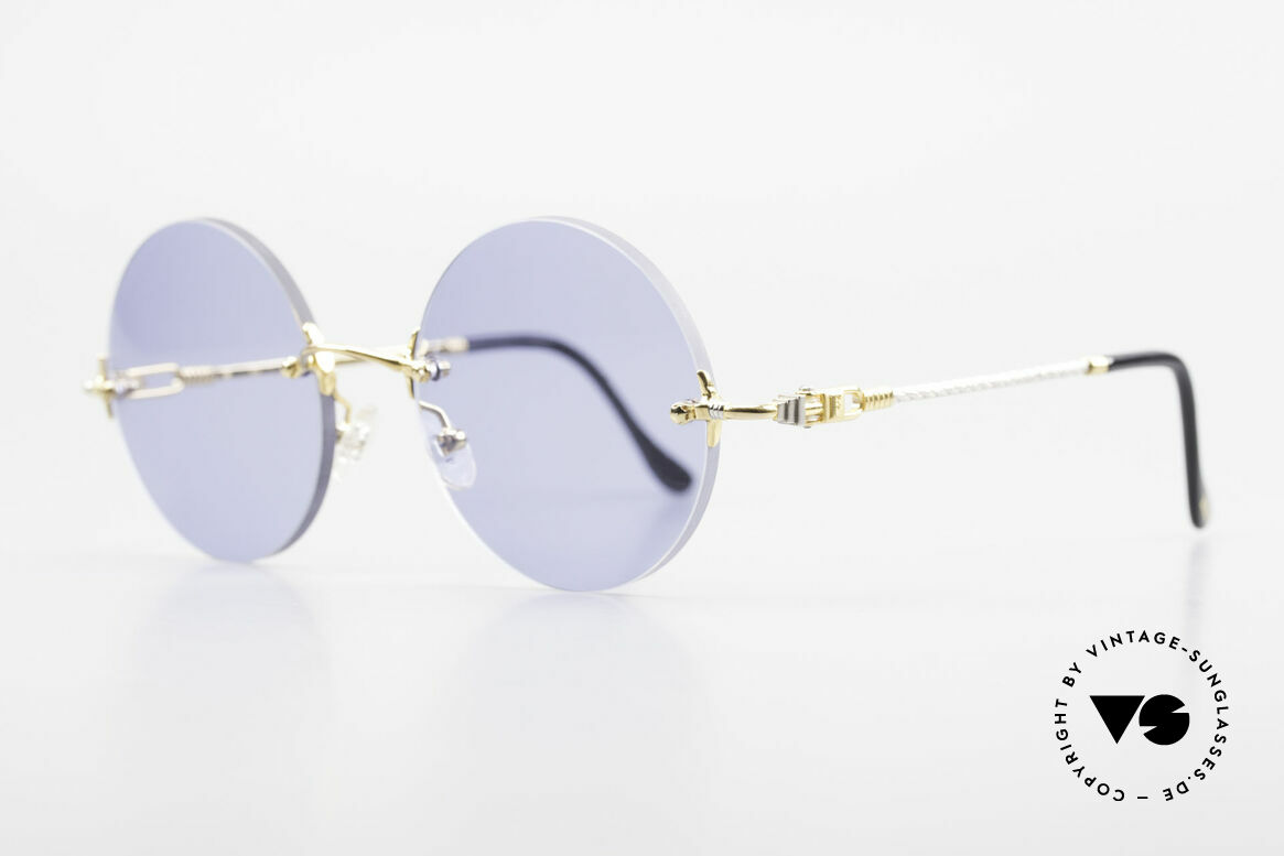 Fred Fidji Rimless Round Luxury Shades, model named after the Fiji Islands (South Pacific Ocean), Made for Men