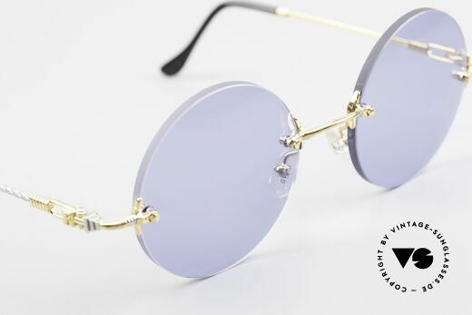 Fred Fidji Rimless Round Luxury Shades, ONE OF A KIND! You won't find this version elsewhere!, Made for Men