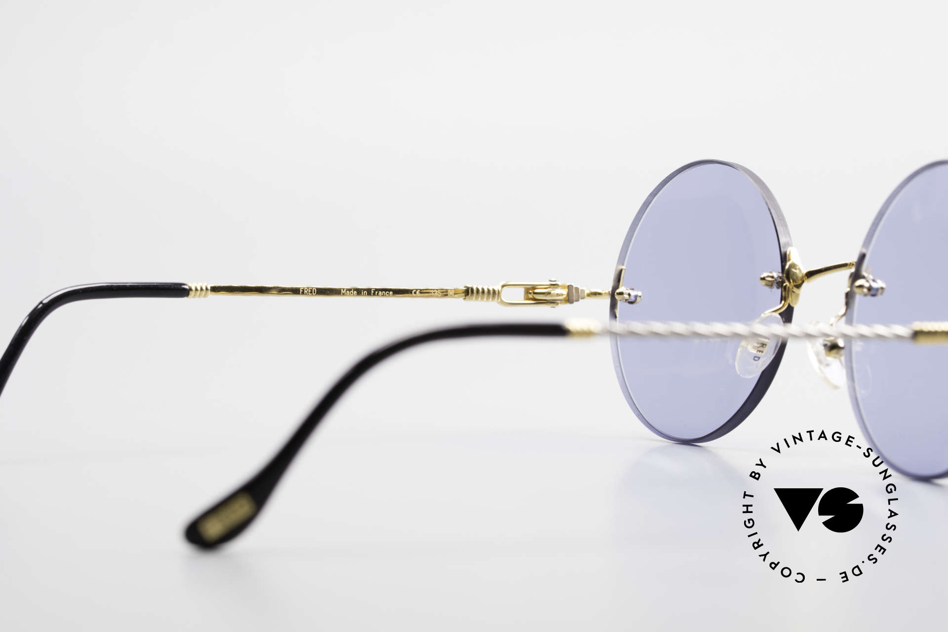 Fred Fidji Rimless Round Luxury Shades, 2nd hand, but in mint condition (incl. orig. case & box), Made for Men