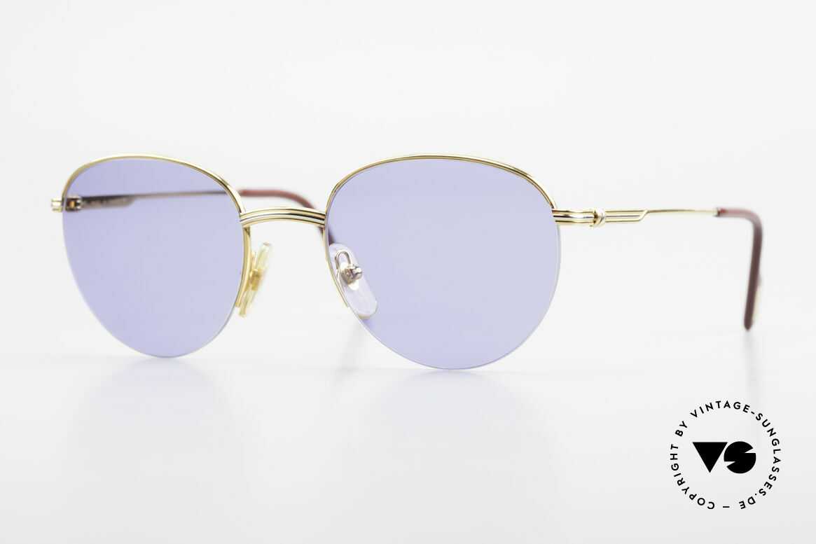 Cartier Colisee Round Luxury Sunglasses 90's, roundish Cartier vintage sunglasses, size 51/20, 140, Made for Men and Women