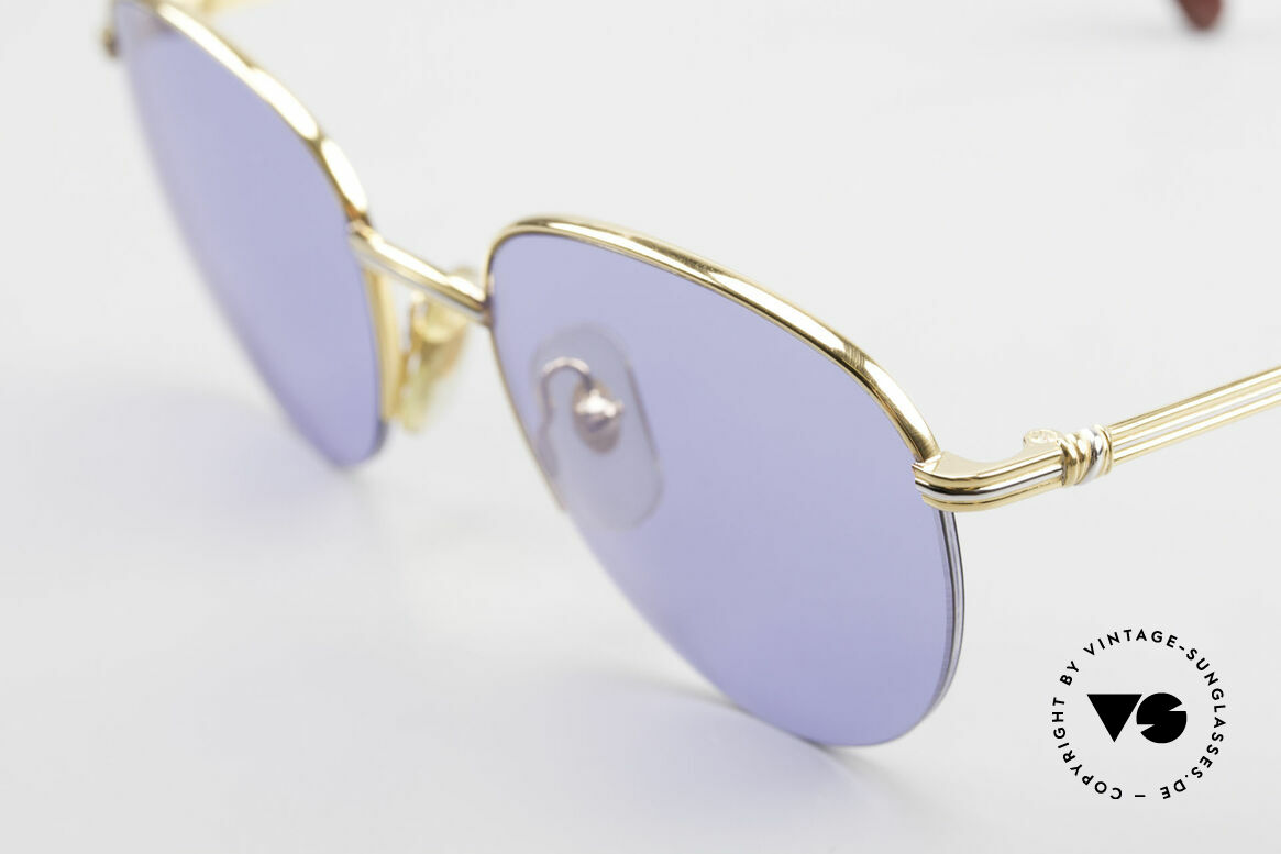 Cartier Colisee Round Luxury Sunglasses 90's, 22ct gold-plated (like all vintage CARTIER frames!), Made for Men and Women