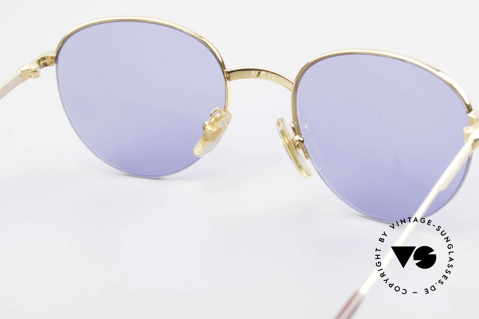 Cartier Colisee Round Luxury Sunglasses 90's, 2. hand but mint condition (new lenses + Cartier box), Made for Men and Women