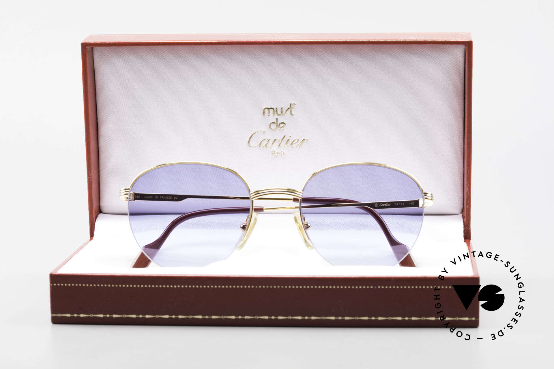 Cartier Colisee Round Luxury Sunglasses 90's, NO retro sunglasses; an old original from app. 1995!, Made for Men and Women
