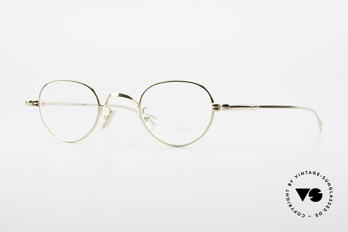 Lunor V 103 Timeless Gold Plated Glasses, LUNOR: honest craftsmanship with attention to details, Made for Men and Women