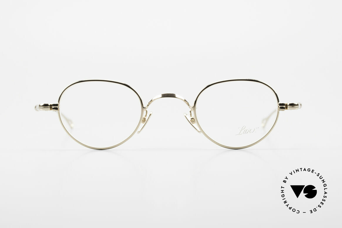 Lunor V 103 Timeless Gold Plated Glasses, without ostentatious logos (but in a timeless elegance), Made for Men and Women