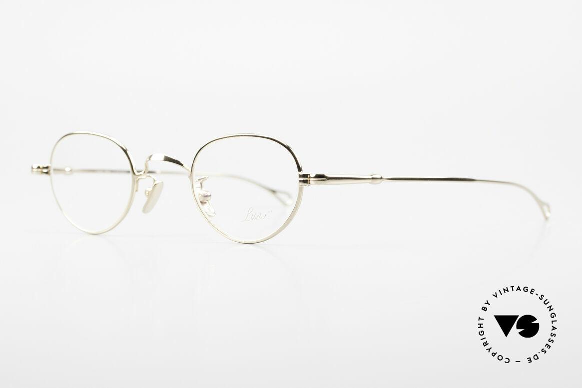 Lunor V 103 Timeless Gold Plated Glasses, model V103: very elegant metal glasses, GOLD-PLATED, Made for Men and Women