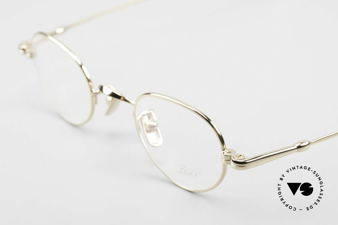 Lunor V 103 Timeless Gold Plated Glasses, from the 2011's collection, but in a well-known quality, Made for Men and Women