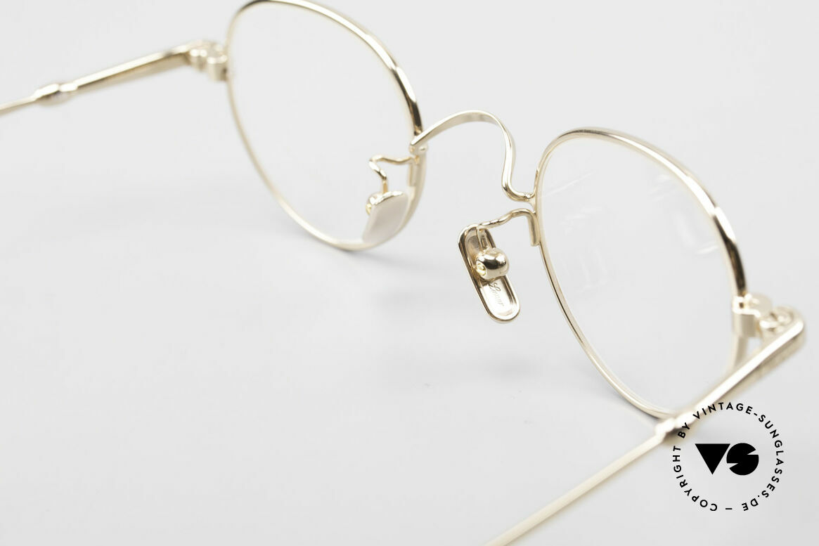 Lunor V 103 Timeless Gold Plated Glasses, Size: medium, Made for Men and Women