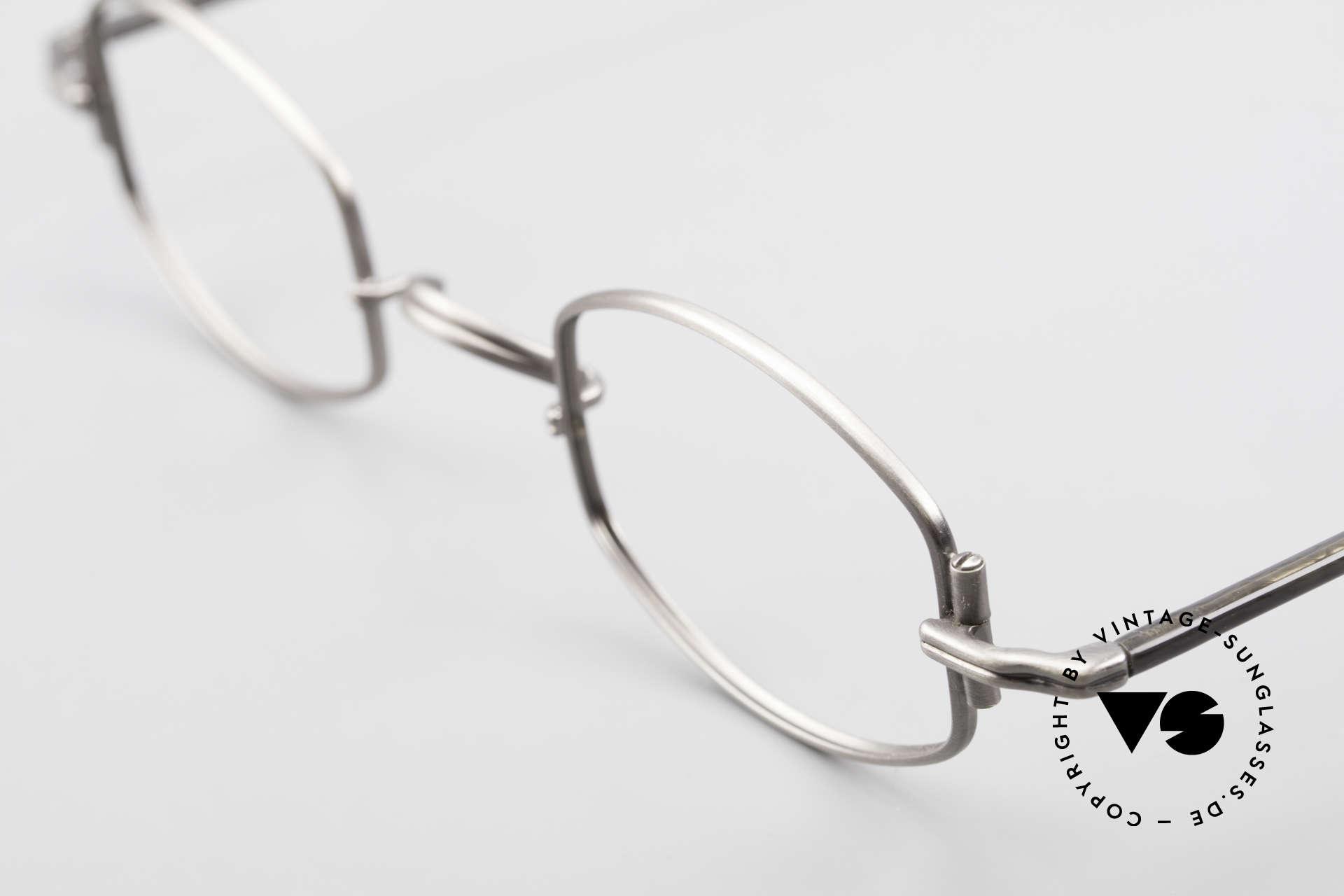 "Lunor XA 03 Extraordinary Eyeglass Design, model ""XA 03"" with anatomic bridge and acetate temples, Made for Men and Women"