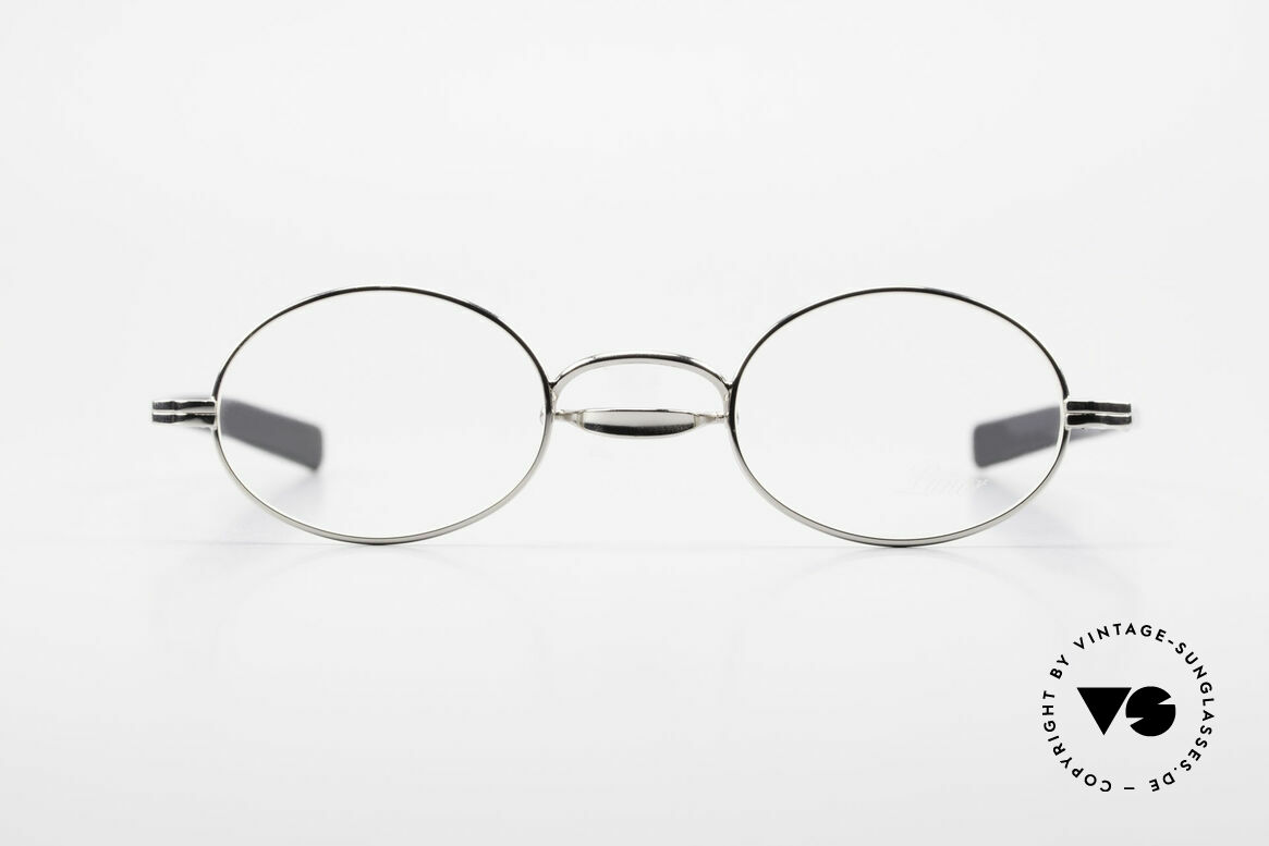 Lunor Swing A 33 Oval Swing Bridge Vintage Glasses, traditional German brand; quality handmade in Germany, Made for Men and Women
