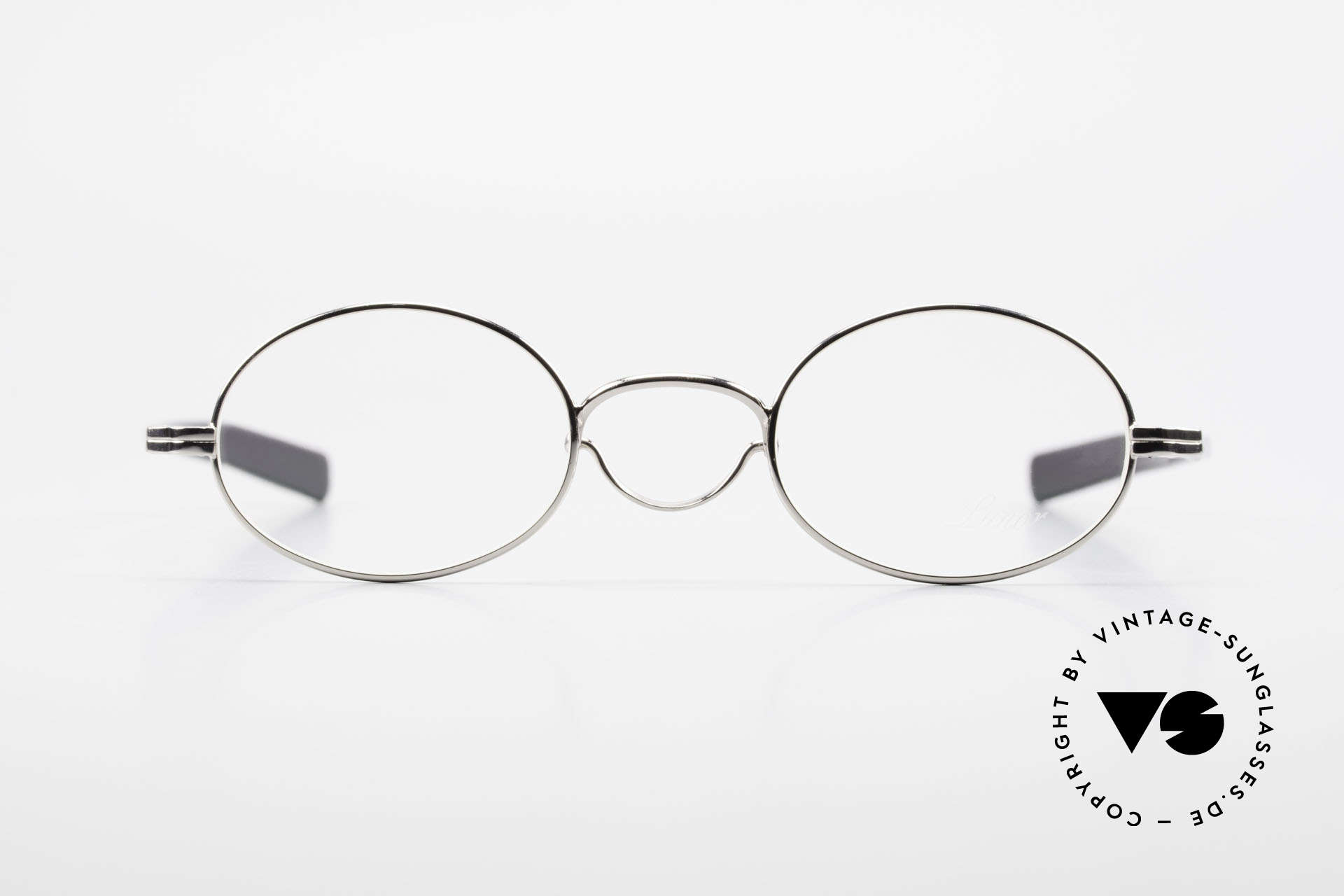 """Lunor Swing A 33 Oval Swing Bridge Vintage Glasses, well-known for the """"W-bridge"""" & the plain frame designs, Made for Men and Women"""
