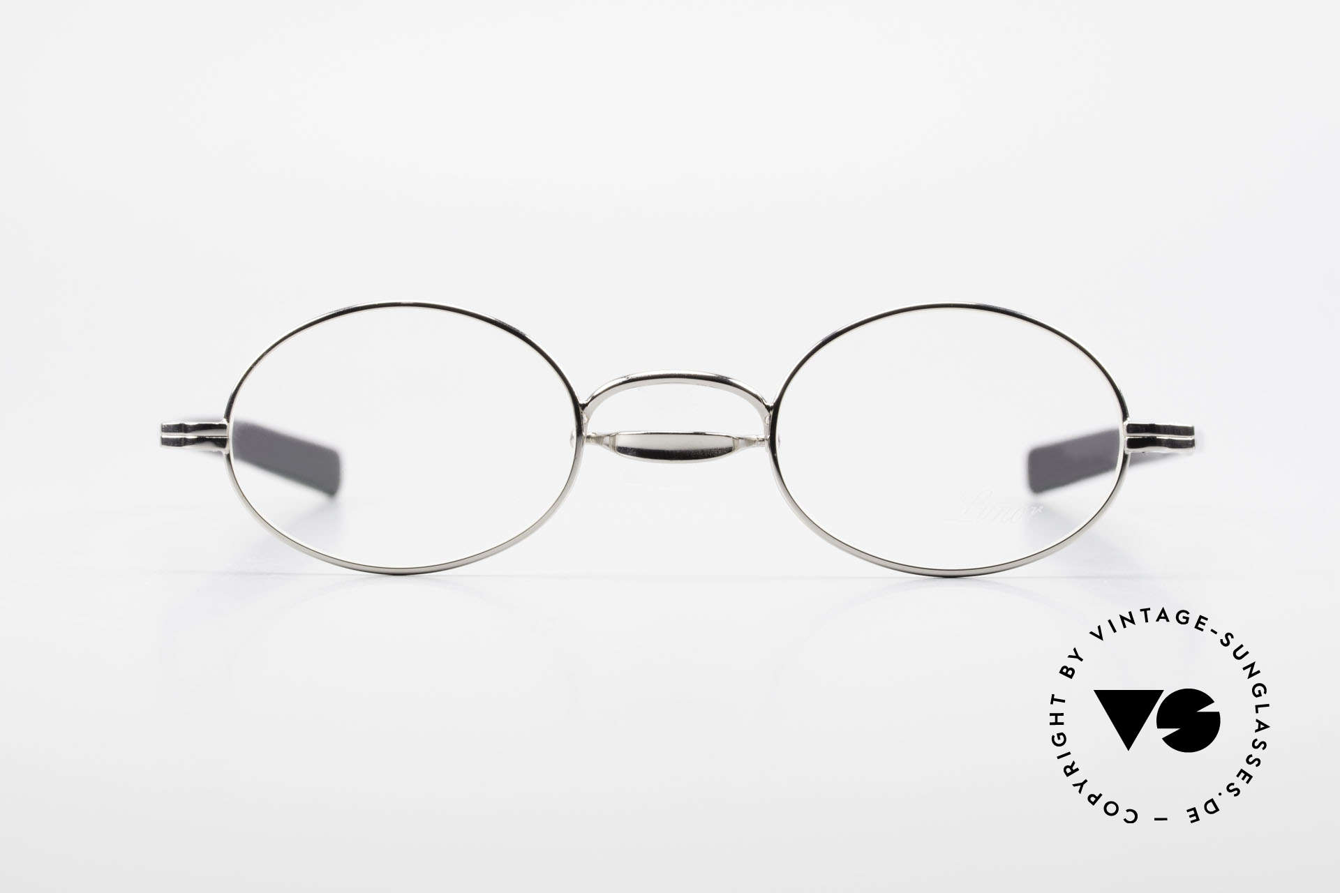Lunor Swing A 33 Oval Swing Bridge Vintage Glasses, swing bridge = homage to the antique glasses from 1900, Made for Men and Women
