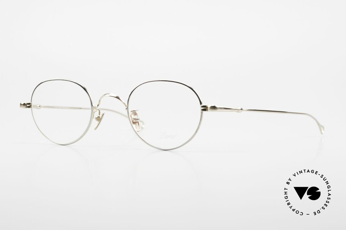 Lunor V 108 Bicolor Eyeglasses Titanium, LUNOR: honest craftsmanship with attention to details, Made for Men