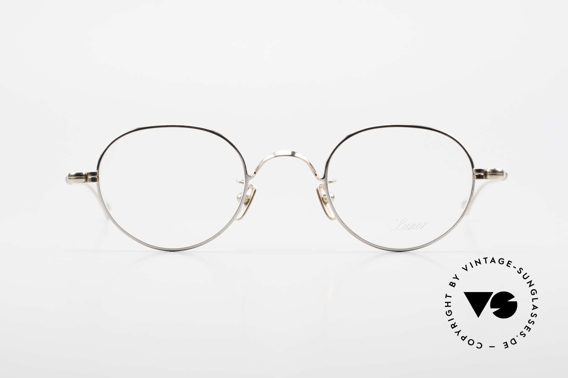 Lunor V 108 Bicolor Eyeglasses Titanium, without ostentatious logos (but in a timeless elegance), Made for Men