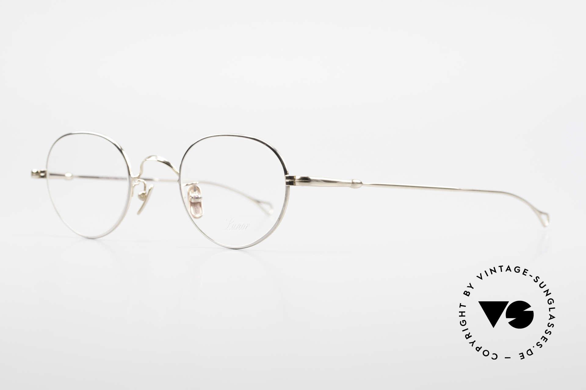 Lunor V 108 Bicolor Eyeglasses Titanium, model V 108: very elegant Panto glasses for gentlemen, Made for Men