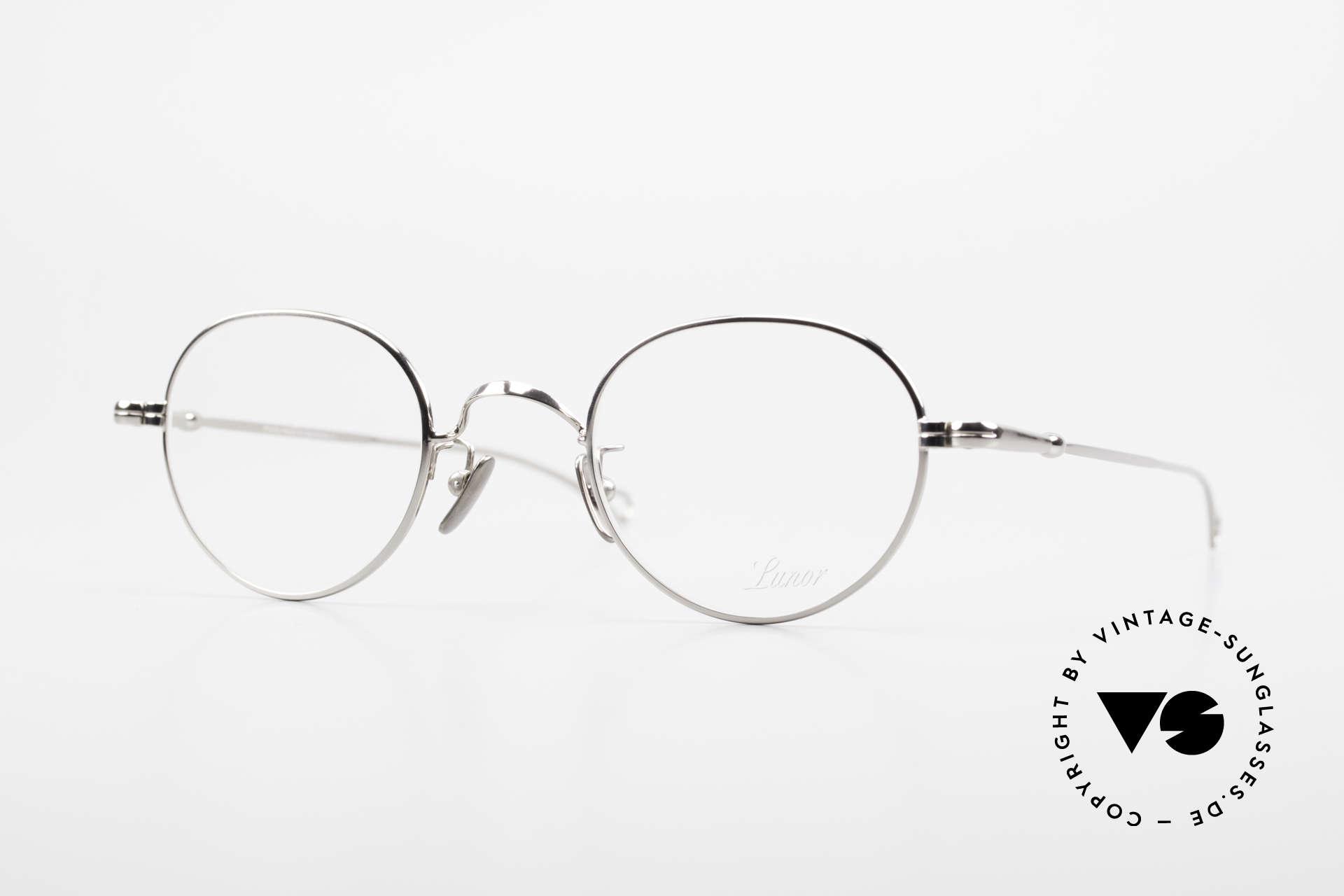 Lunor V 108 Panto Frame Platinum Plated, LUNOR: honest craftsmanship with attention to details, Made for Men
