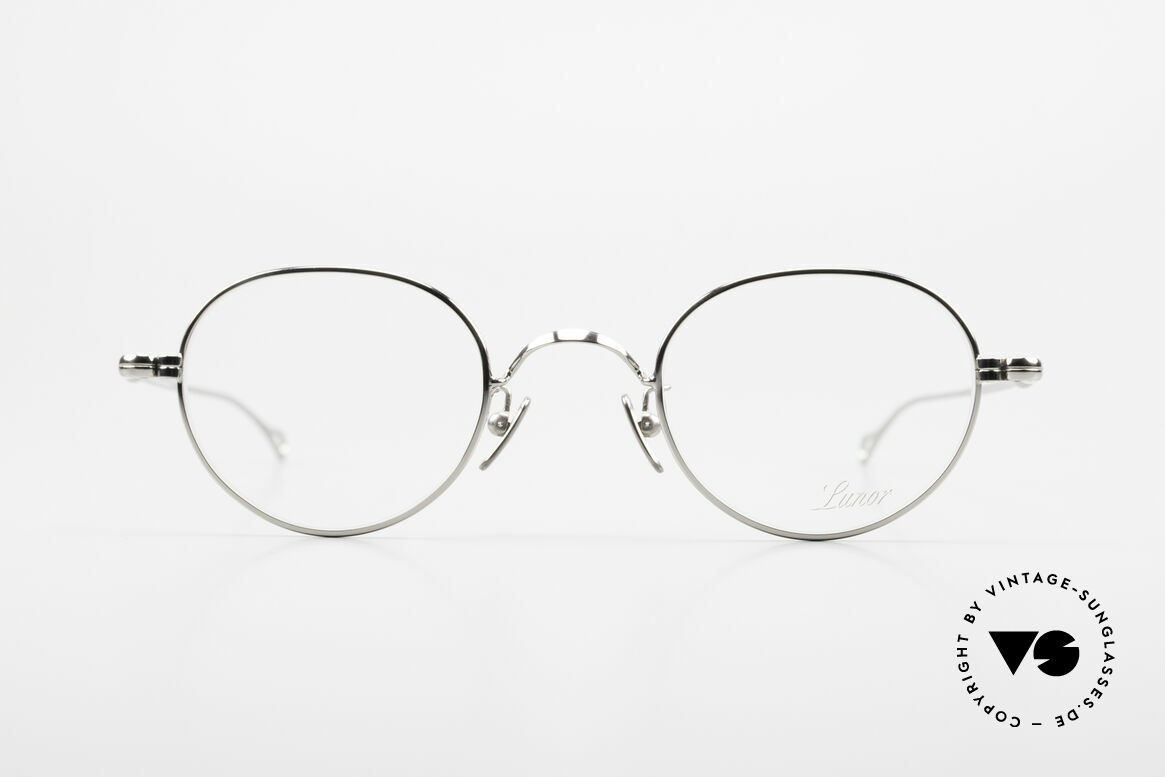 Lunor V 108 Panto Frame Platinum Plated, without ostentatious logos (but in a timeless elegance), Made for Men