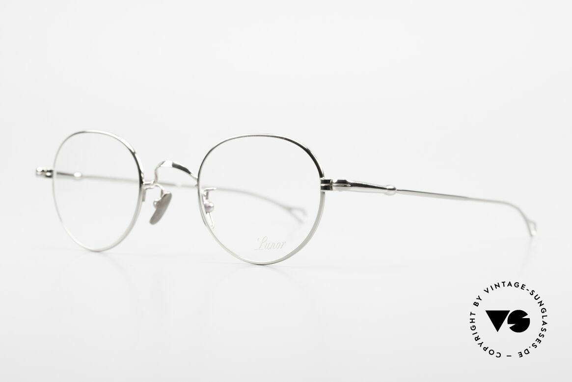 Lunor V 108 Panto Frame Platinum Plated, model V 108: very elegant Panto glasses for gentlemen, Made for Men