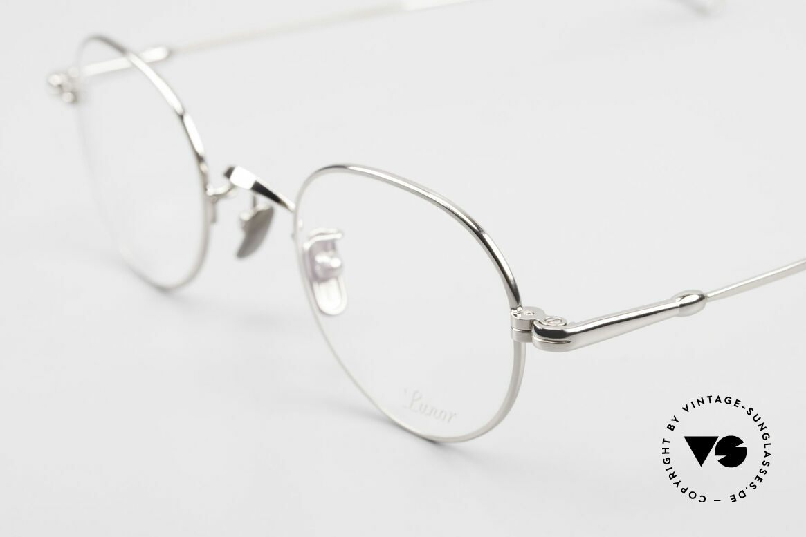 Lunor V 108 Panto Frame Platinum Plated, from the 2011's collection, but in a well-known quality, Made for Men