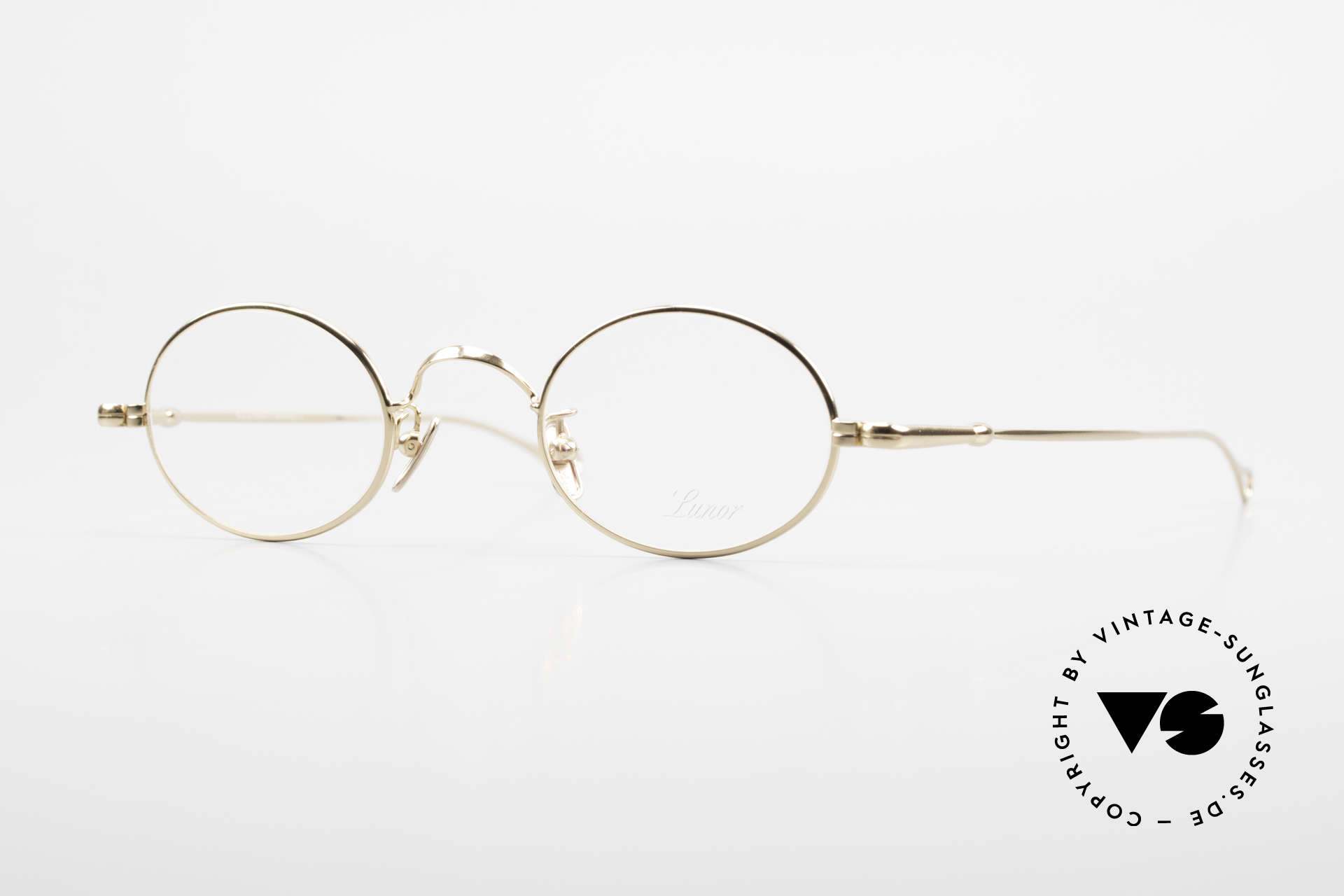 Lunor V 100 Oval Eyeglasses Gold Plated, LUNOR: honest craftsmanship with attention to details, Made for Men and Women