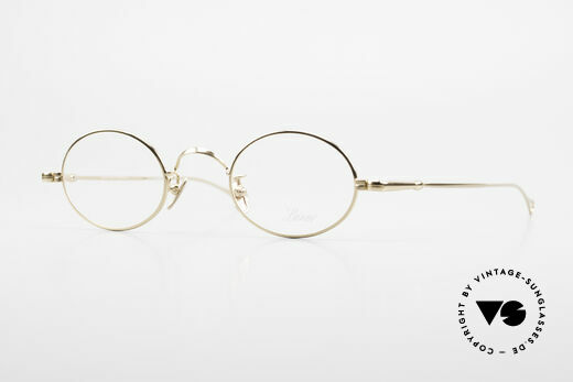 Lunor V 100 Oval Eyeglasses Gold Plated Details