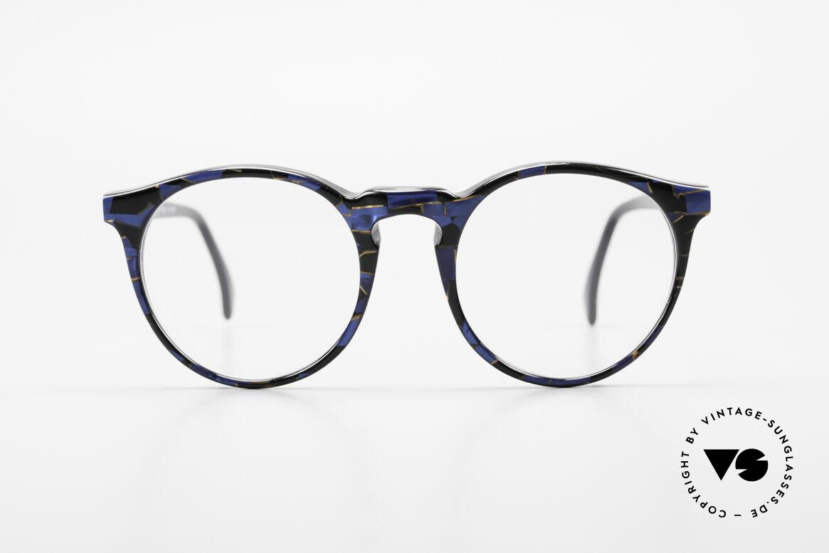 Alain Mikli 034 / 898 Panto Designer Eyeglasses, classic 'panto'-design with an interesting pattern, Made for Men and Women